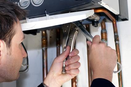 Water heater gas line repair